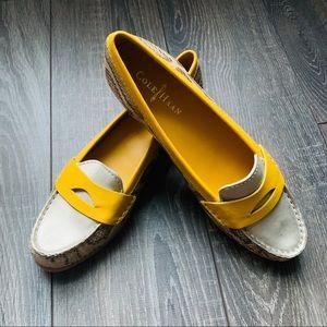 NEW Cole Haan Nike Air Sloane Eva Snakeskin Loafer